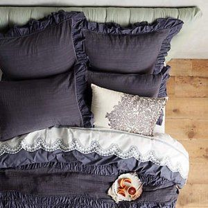 Set of Anthropologie Toulouse Standard Shams
